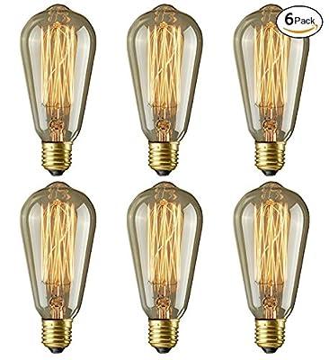 Lightess Vintage Light Bulb Filament E27 Edison Style - Squirrel Cage