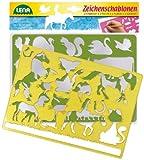 Lena 65767 - 2 Zeichenschablone Pferde und Katzen