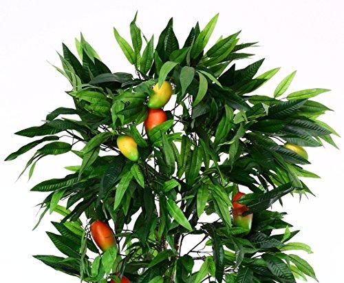 Mangobaum künstlicher mit Früchten, im Topf, Höhe 180cm – Kunstbäume Kunstpflanzen künstliche Bäume