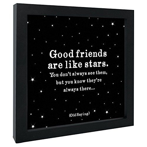 Quotable Cards Gerahmter Kunstdruck mit Zitat Good Friends Are Like Stars You Don't Always See Them but You Know They Always There!