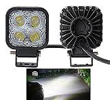 Leetop 2X 12W LED Scheinwerfer Flutlicht Rückfahrscheinwerfer IP67 Wasserdicht Arbeitsscheinwerfer 12V 24V