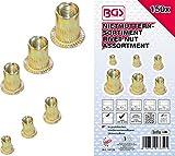 BGS 14126 - Juego de tuercas de remache (acero galvanizado, 150 piezas)