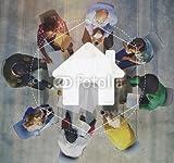 druck-shop24 Wunschmotiv: Home Community Online Technology Graphic Concept #121298234 - Bild hinter Acrylglas - 3:2-60 x 40 cm/40 x 60 cm