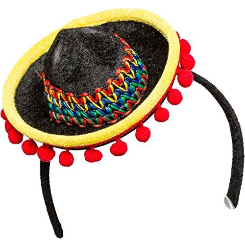 Minihut Mexikanerin Mini-Sombrero Miniatur Mexikanerhut Minizylinder Strohhut Fascinator Spanien Tequila - Tequila Kostüm