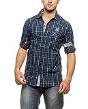 Groove Men Cotton Green Casual Shirt (XX...
