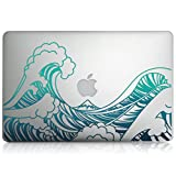 "kwmobile Aufkleber Sticker für Apple MacBook Air 13"" (ab Mitte 2011) Skin Folie Voderseite Decal Wellen Design"