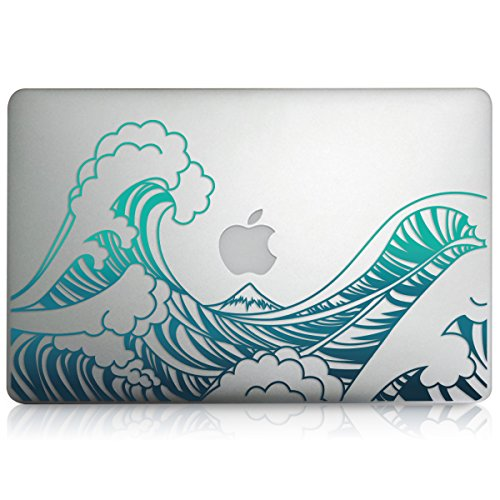 Kwmobile Pegatina Sticker diseño Olas Apple MacBook