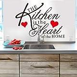 CVG La Cuisine est Le cœur de la Maison Citation Sticker Mural 8191 décoratif adesivo de Parede Amovible Vinyle Autocollant Mural