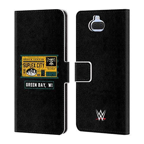 Head Case Designs Offizielle WWE Brock One Way Ticket Green Bay 2018/19 Superstars Leder Brieftaschen Huelle kompatibel mit Sony Xperia XA3 Ultra / 10 Plus (Wwe Tickets)