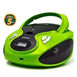 Lauson CP633 Lettore Cd Portatile | USB | Bambini Radio | Stereo Radio Digitale FM | Boombox | CD/MP3 Player | LCD-Display (Verde)