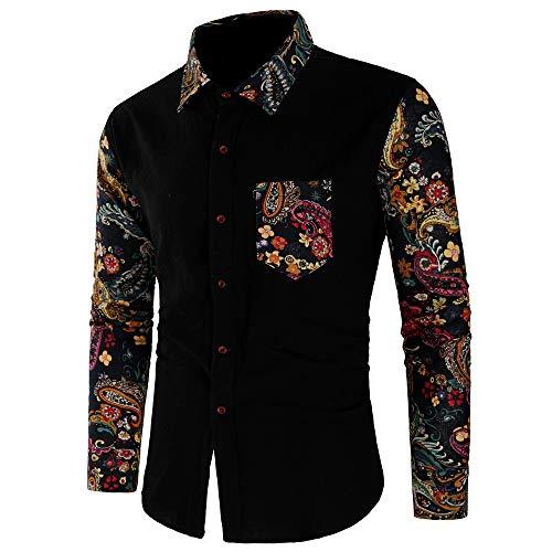 Maglieria da Uomo,Sweater Man Top Moda Uomo Manica Lunga Stampata Casual Manica Lunga