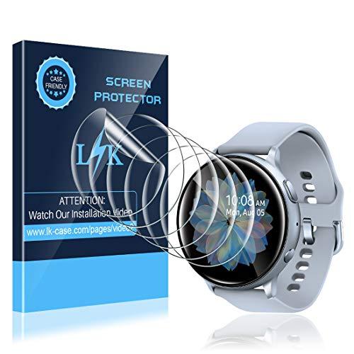 LK Protection Écran pour Samsung Galaxy Watch Active 2 44mm [6 Pièces], Anti-Rayures HD Clair Doux TPU Film[Compatible avec Coque][sans Bulles] Adsorption Anhydre Film de Protection d'écran