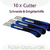 Cutter 10 Stück Bastelmesser Teppichmesser Folienmesser Trockenbau
