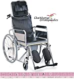 Chaithanya Orthopaedics Fc Premium Folding Commode Wheelchair- Reclining Wheel Chair