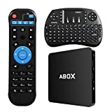 2017 Modell Globmall Android 6.0 TV Box, Smart Box mit Wireless Keyboard und Remote, ABOX 1GB RAM 8GB ROM 4K WiFi TV Box mit Quad-Core 64 Bits CPU Amlogic S905X Chip