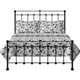 The Original Bed Co. Edwardian Eisenbett Metallbett Metall Bettrahmen Satin Schwarz 120 x 190 cm