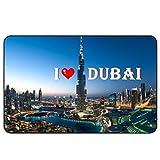 Cadora Magnetschild Kühlschrankmagnet I love Dubai