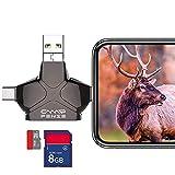 CampFENSE Lecteur de Carte SD Compatible avec iPhone Android iPad Mac MP3 Connexion USB Multi-systèmes Compatible Micro-mémoire Chasse Photos Visionneuse de vidéos(SD Card Not Included)...