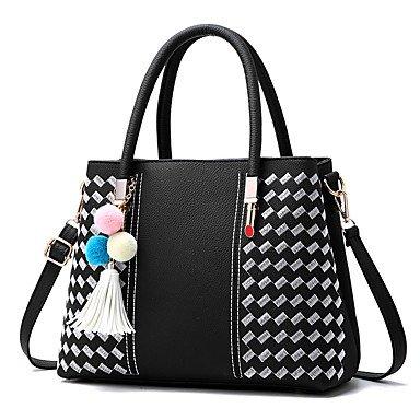 Damenmode PU Leder Messenger Umhängetaschen/Handtasche Tote Blushing Pink