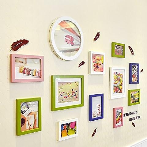 YUPD Portfolio fotografia cinese giardino segreto parete foto cornice da parete in legno massello , d Cornice portafoto da parete/ Cornici foto