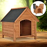 """Hundehütte / Hundehaus """"Rocky"""" mit aufklappbarem Bitumendach und erhöhtem Boden 71 × 88 × 83cm"""