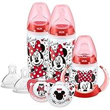 NUK 10759020 Minnie Mouse - Conjunto de botellas, tetinas y chupetes