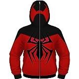 Sudadera con capucha para niños y niñas, diseño de Spiderman