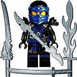 LEGO Ninjago: Minifigur Deepstone Jay (blauer Ninja) mit 4 GALAXYARMS Schwertern