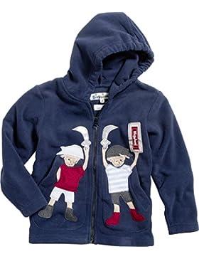 Playshoes Unisex Kinder Fleece-Jacke mit Motiv und Kapuze, Reflektoren