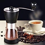 TTLIFE Manual Coffee Grinder Washable Stainless Steel Home Kitchen Mini Manual Hand Coffee Grinder Beans Nuts Grinders Mill