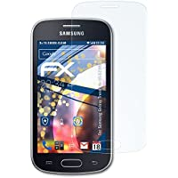 3 x atFoliX Antichoque Película Protectora Samsung Galaxy Trend Lite (GT-S7390) Protector Película - FX-Shock-Clear