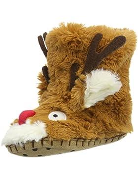 Hatley Unisex-Kinder Reindeer Hausschuhe