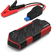 CYCMIA 600A Peak 15000mAh Car Jump starter Auto Battery (Up to 6.0L Gas or 4.0 Diesel Engines) High capacity Portable Charger phone Power bank with Multiple Protected Smart Clamp (Rojo)