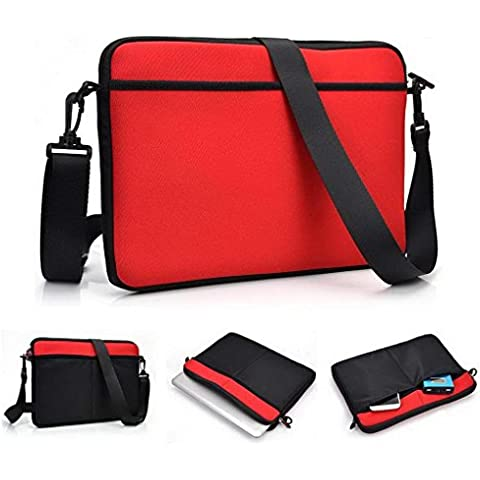 'Kroo 11 pulgadas Tablet neopreno bolsa/funda de hombro para Amazon Kindle Fire HD 8,9 4 G LTE rojo