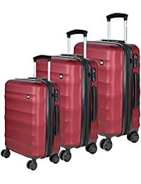 db1b97655eef Nasher Miles Rome Soft-Sided Luggage Set of 3 Trolley Travel Tourist Bags