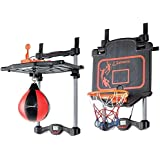 IndusBay 2 In 1 Adjustable Basketball Boxing Set Automatic Score Record Toy Set With Light And Music Indoor/Outdoor Toy For Kids
