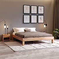 Krokwood Jana Massivholzbett in Buche FSC 100% Massiv, Natur geölt Buchebett, billig Futonbett, massivholz Bett vom Hersteller (140 x 200 cm)