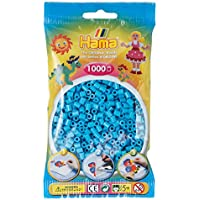 Hama 207-49 - Bügelperlen im Beutel, ca. 1000 Stück, azurblau