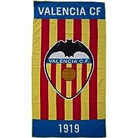 Valencia CF Toavcf Toalla, Blanco/Naranja, 180 x 90 cm