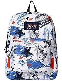 Preisvergleich für XIAODONG Multicolor Gedruckt Schultasche Schulrucksack Casual Rucksack,B-30 * 13 * 43cm