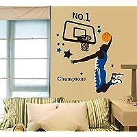 Casetta da gioco basket-Adesivo da parete, rimovibile, Carta da parati, cucina, camera da letto, soggiorno con finestra per foto, in PVC, Murals-Addobbo per porta, motivo: Rana 3D per auto, in confezione regalo - Nursery Wallpaper Murales
