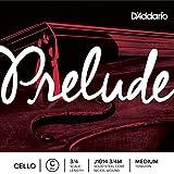 D'Addario Orchestral Prelude - Cuerda individual Do para violonchelo, escala 3/4, tensión media