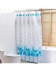 D G F Cortinas de ducha Familia Impermeable Antiniebla Baño Cortinas de poliéster creativas Multi-tamaño Opcional ( Tamaño : 180*200cm )