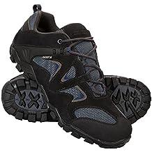 Mountain Warehouse Zapatillas impermeables Curlews para hombre - Botas de montaña de secado rápido, zapatillas de ante y malla, suela de goma - Ideal para uso diario