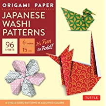 Origami paper japanese washi patterns small 6 96 sheets