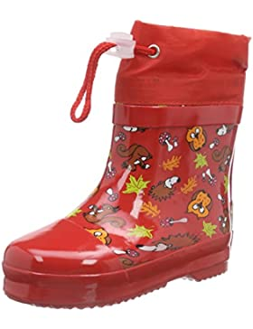 Playshoes Rubber Forest Animals Lined - Botas de Goma para Niño