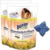 2 x 4 kg Bunny Meerschweinchen Traum Basic Meerschweinchenfutter+ Microfasertuch