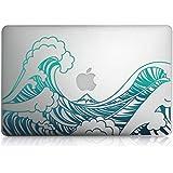 """kwmobile Pegatina Sticker Diseño ola para > Apple MacBook Air 13"""" (Versiones a partir de mediados 2011) < película skin protectora para la parte delantera vinilo"""