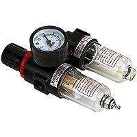Reductor de presión con manómetro unidad de mantenimiento de 1/4 pulgadas, separador de agua de aire comprimido, reductor de presión para compresor, regulador de presión de componentes neumáticos