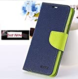 Golden River Luxray & Stylish Cover For Panasonic Eluga Note Flip Cover & Diary Wallet Case Blue